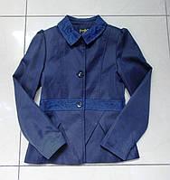 Пиджак синий для девочки. Размер 134 см.