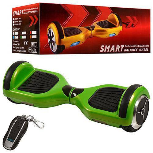 Гироборд Смартвей SmartWay зеленый колеса 6,5 дюймов