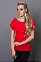Яркая красная блуза из шифона