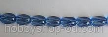 Намистина Овал кручений колір блакитний 10*13 мм