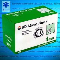 УЦЕНКА! Иглы 4 мм для инсулиновых шприц-ручек Microfine / Микрофайн универсальные 100 шт.