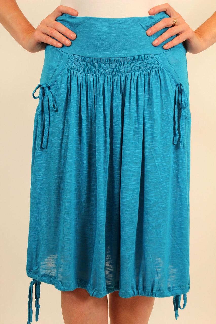 Летняя трикотажная юбка 42-50 р ( розовый, голубой )