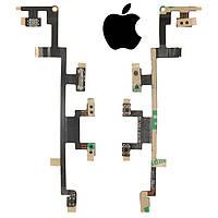 Шлейф для Apple iPad 4, кнопки включения, с компонентами (оригинал)