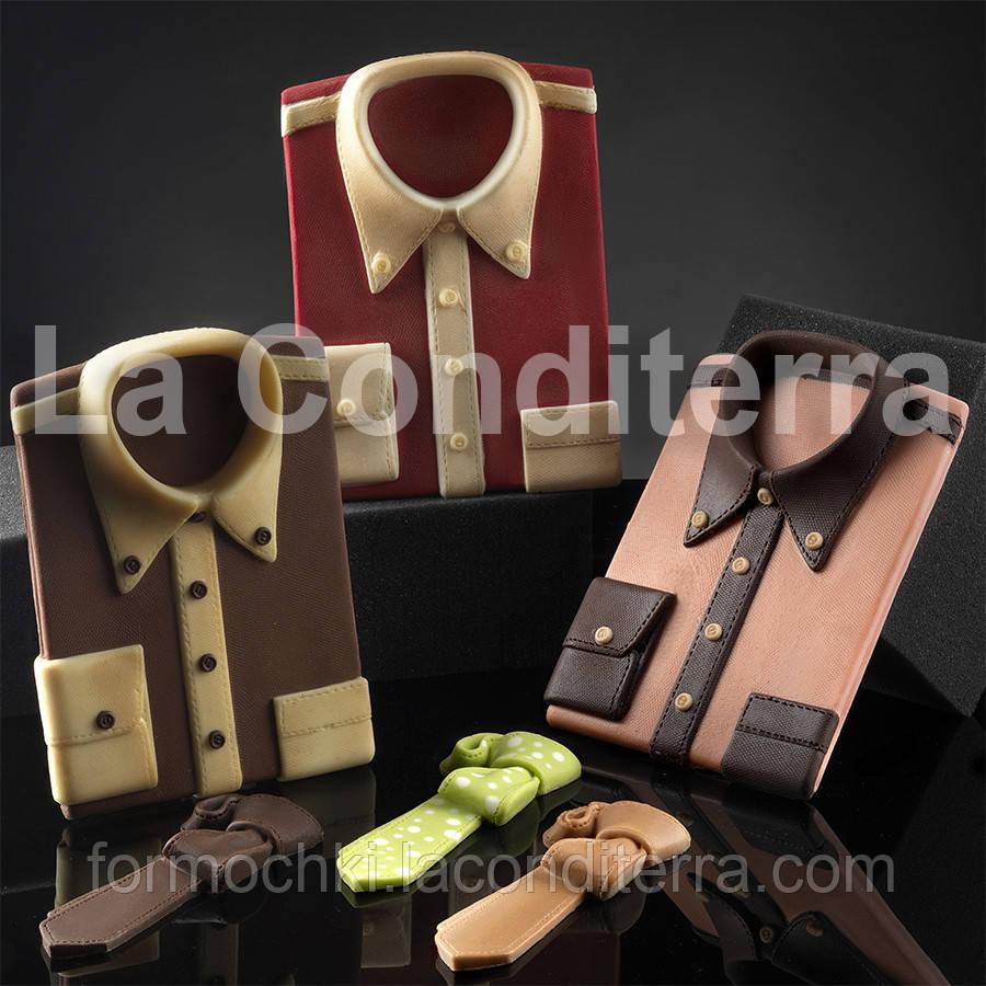 Силиконовая форма для шоколадных скульптур Decosil (Рубашка мужская)