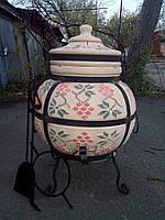 Тандыр из шамотной глины № 3  (дизайн украинский)