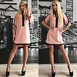 Женское обворожительное стильное летнее платье-туника (3 цвета)+ (Большие размеры), фото 3