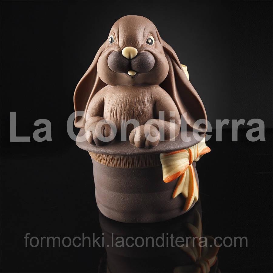 Силиконовая форма для шоколадных скульптур Decosil (Кролик в магической шляпе)
