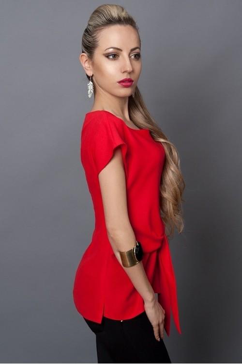 Красная блуза без рукавов , фото 2