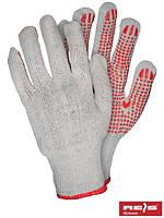 Защитные рукавицы, выполненные из трикотажа с односторонним точечным покрытием RDZN_NATU