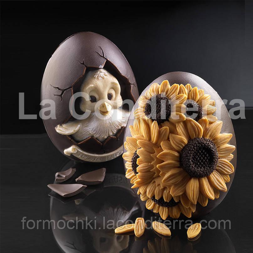 Силиконовая форма для шоколадных скульптур Decosil (Яйцо с уточкой)