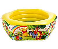 """Бассейн детский надувной Intex """"Винни Пух"""" DISNEY Winnie the Pooh, шестиугольный"""