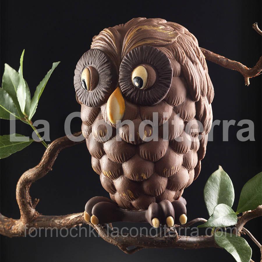 Силиконовая форма для шоколадных скульптур Decosil (Сова)