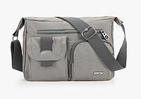 Водостойкая, спортивная мужская сумка на плече. Непромокаемая сумка для мужчины. Практичная сумка. Код: КН43