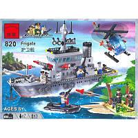 Конструктор Brick Военный корабль 820  614 дет.