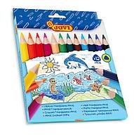 Цветные карандаши утолщенные трехгранные для детей от 1 года MAXI , 12 цветов, Jovi (Испания)