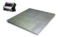 Платформенные весы нержавеющего исполнения ЗЕВС ВПЕ-500-4(Н1515)Н, до 500 кг, размер площадки 1500х1500 мм