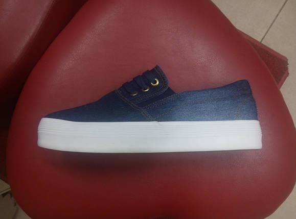 Модные джинсовые кеды на толстой подошве  Allshoes., фото 2