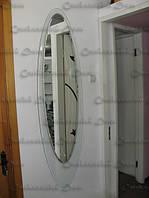 Зеркало с фоном из стекла