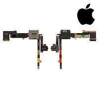 Шлейф для Apple iPad 2, коннектора наушников, sim коннектора, с компонентами, (версия 3G) (оригинал)