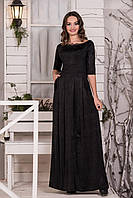Нарядное черное платье  с карманами