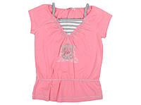 Блузка детская удлиненная  для девочки р 122 см