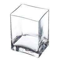 Ваза прямоугольная стеклянная Pasabahce Flora 100*80*140мм