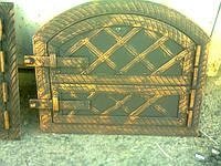 """Дверка духовки коптилки хлебные металлическая ковка""""арка"""" 330*430 мм"""