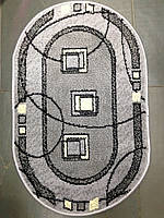 Коврик для ванной Amber, Турция, 0,5 х 0,8, серый
