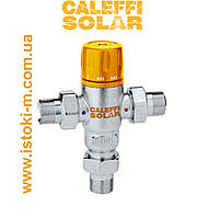 """Регулируемый термостатический смеситель 1/2"""" для систем работающих на солнечной энергии CALEFFI SOLAR, фото 1"""