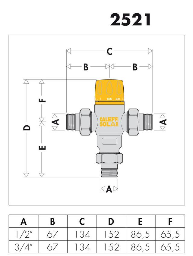 купить термосмеситель для гелиосистем caleffi solar 252140