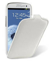 Чехол-флип для телефона Samsung i9300 Galaxy S III (Melkco Jacka leather case white)