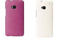 Кожаный чехол-накладка для телефона Nokia Lumia 820 (Melkco Snap leather cover white)