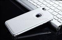 Кожаный чехол-накладка для телефона Bumper+Leather Back IPhone 6 White
