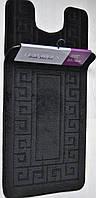 Набор ковриков для ванной и туалета MAXIMUS  ETHNIC BLACK