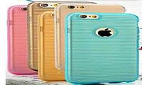 Силиконовый чехол для телефона Stripe TPU case for iPhone 6 pink