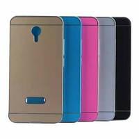 Чехол-накладка для телефона Huawei P8 Бампер+зеркальная задняя крышка