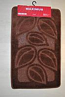 Набор ковриков для ванной и туалета MAXIMUS  FLORA BROWN