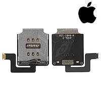 Шлейф для Apple iPad 5 Air, sim коннектора, с компонентами (оригинал)