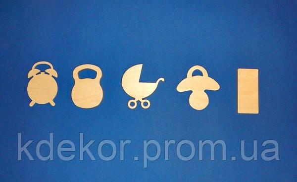 Набор для детской метрики №2 заготовки для декупажа и декора