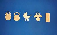 Набор для детской метрики №2 заготвоки для декупажа и декора