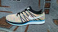 Мужские кроссовки для бега фитнеса и спортзала Nike Flyknit Trainer разноцветные multicolor