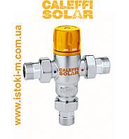 """Регулируемый термостатический смеситель 3/4"""" с обратными клапанами для гелиосистем Calefi Solar"""