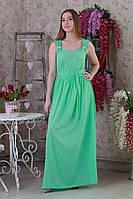 Нежное легкое летнее длинное женское платье.