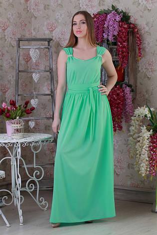 Нежное легкое летнее длинное женское платье., фото 2