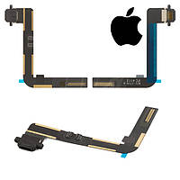 Шлейф для iPad 5 Air, коннектора зарядки, с компонентами, черный, оригинал