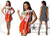 Платье летнее Девушка в красном 12427 ГФ