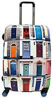 Чемодан SAXOLINE BLUE Blue Doors B07HC.71;01 Большой Цветные Двери 4-х колесний