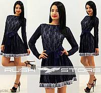 Гипюровое платье с кружевом