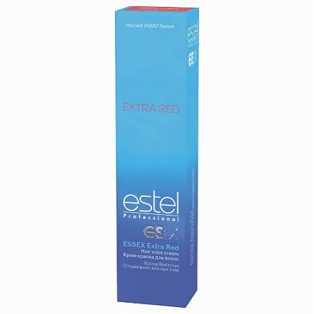 55/65 - Зухвалий фламенко ESTEL Essex Extra Red Крем-фарба для волосся 60 мл.