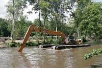 Очистка водоемов. Чистка озер. Очистка прудов. Дноуглубительные работы